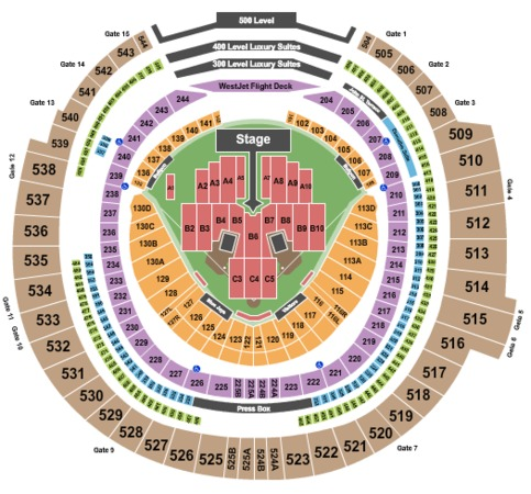 Rogers Centre Tickets in Toronto Ontario, Rogers Centre ...