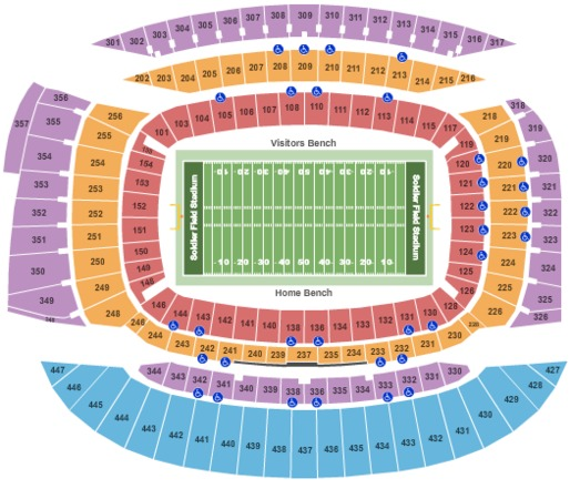 Soldier Field Stadium Tickets In Chicago Illinois Seating