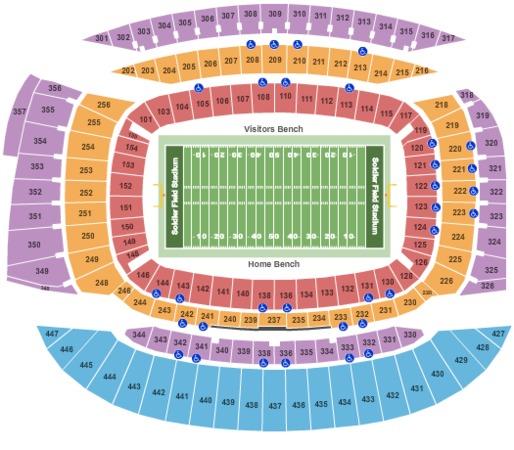 Soldier Field Stadium Tickets In Chicago Illinois Seating