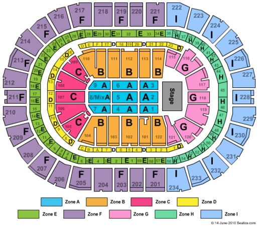 Seating Chart With Seat Numbers Gallery 10031 Ppg Paints Arena End Stage Zone