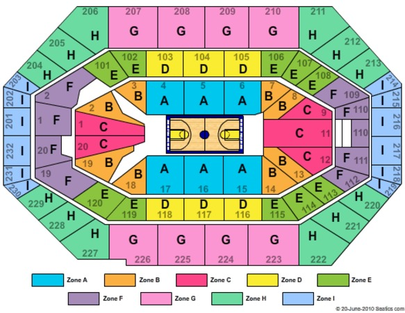 Bankers Life Fieldhouse Concert Seating Chart Online Coupons