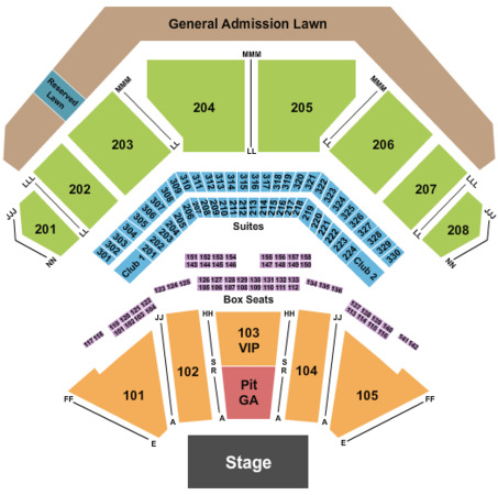Hollywood Casino Amphitheatre Reserved Seating - GA Pit