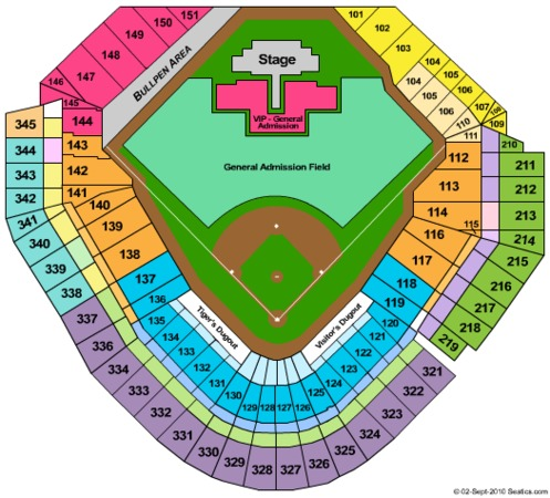 Comerica Park Tickets in Detroit Michigan, Comerica Park ...