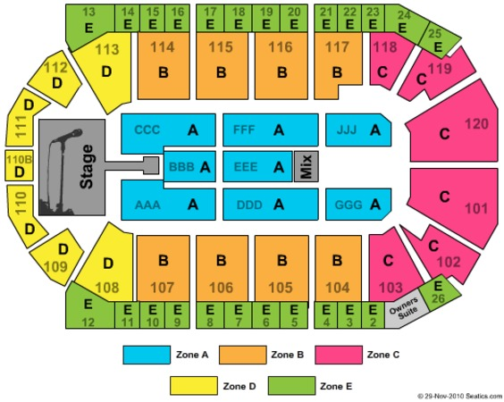 1stbank Center Tickets In Broomfield Colorado 1stbank