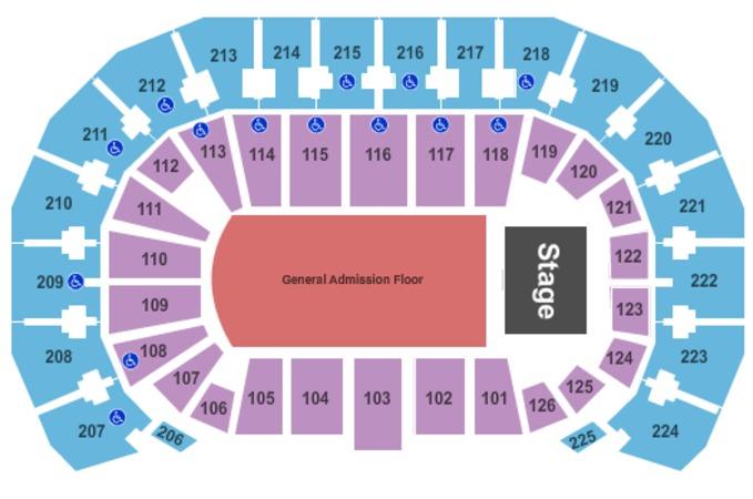 INTRUST Bank Arena End Stage GA