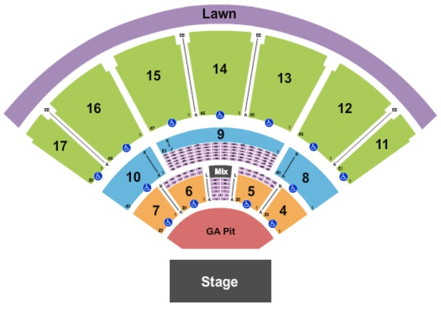 MidFlorida Credit Union Amphitheatre At The Florida State Fairgrounds End Stage GA Pit