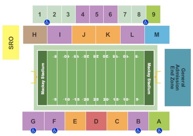 Mackay Stadium Tickets in Reno Nevada, Mackay Stadium ...