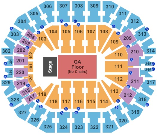 KFC Yum! Center GA Floor
