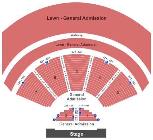Cuthbert Amphitheater Tickets In Eugene Oregon Seating