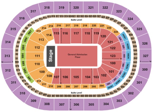 KeyBank Center End Stage GA Floor