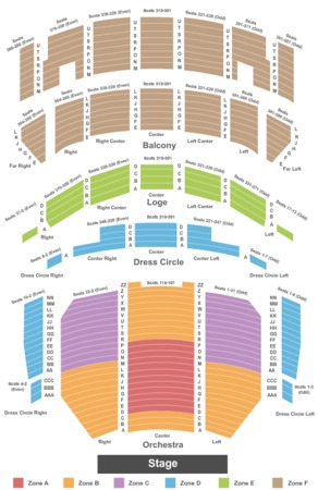 Oriental theatre ford center for the performing arts tickets in
