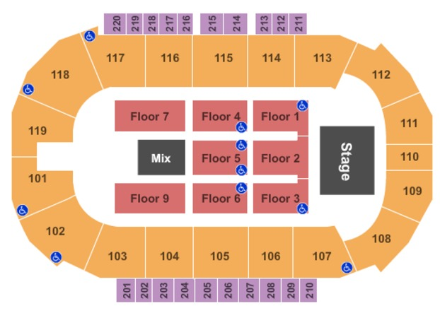 Showare center tickets in kent washington showare center seating