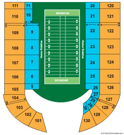Bronco Stadium Tickets In Boise Idaho Bronco Stadium