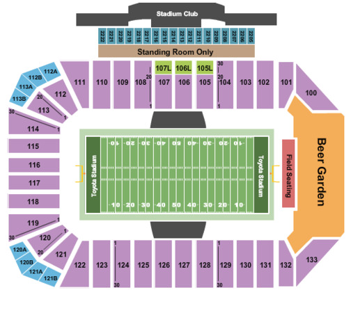 Toyota Stadium Tickets In Frisco Texas Toyota Stadium