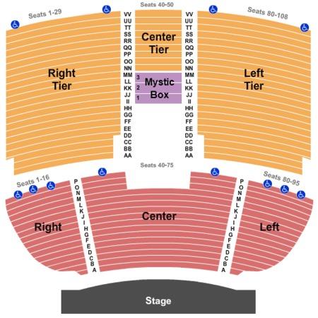 Mystic Lake Showroom Tickets In Prior Lake Minnesota