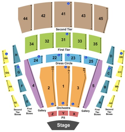 Zarkana seating chart