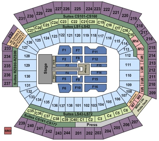 Solr Field Taylor Swift Seating Chart Centurylink Lincoln Financial Best Picture Of