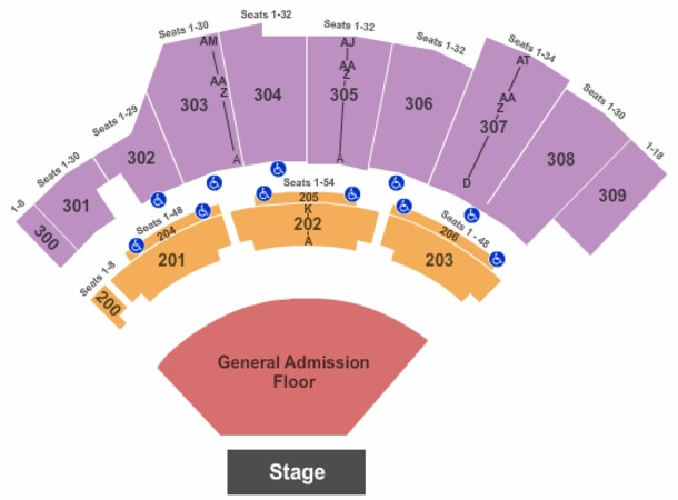 floor plan layout the wharf amphitheatre tickets in orange alabama 11705