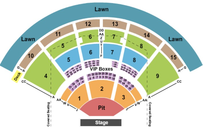 Verizon Wireless Amphitheatre Charlotte End Stage Pit