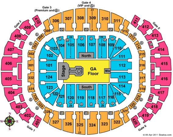 AmericanAirlines Arena Lady gaga