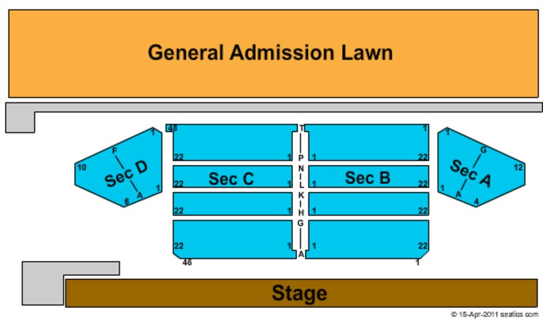 Stage AE Outdoor Reserved - GA Lawn