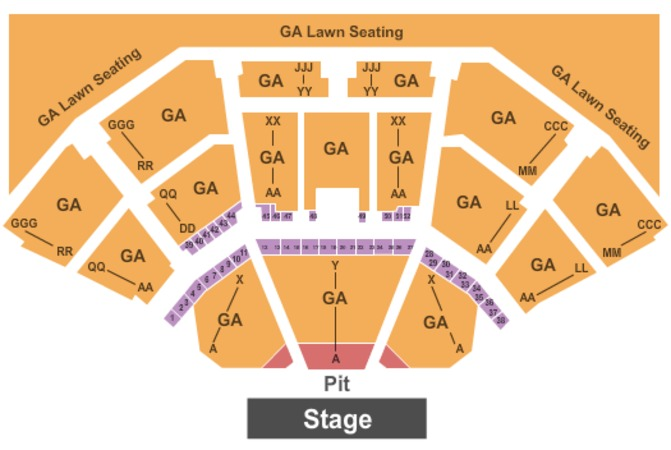 Cellairis Amphitheatre at Lakewood General Admission