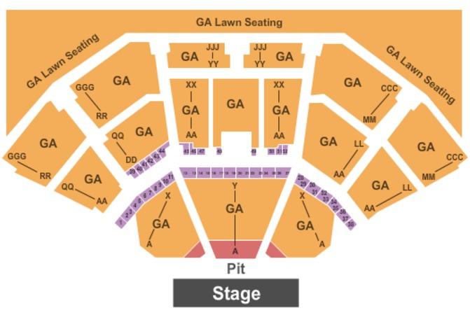 Cellairis Amphitheatre At Lakewood Seating Chart