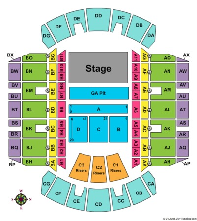 Mississippi Coliseum End Stage GA
