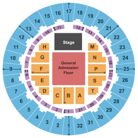 Neal S. Blaisdell Center - Arena End Stage GA