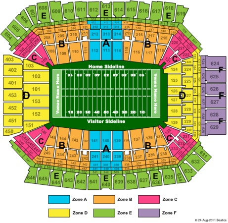 Lucas Oil Stadium Superbowl - Zone