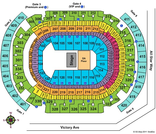 AmericanAirlines Arena Adele CONTACT MAPS