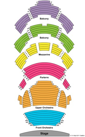 Performing Arts Center Tulsa Seating Chart Arts Center Seating Chart