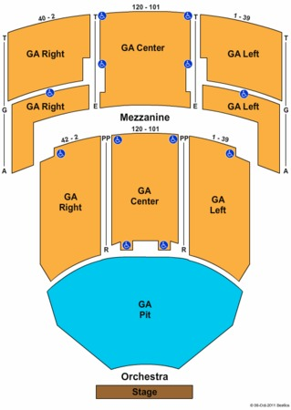 The Fillmore Miami Beach At Jackie Gleason Theater End Stage Ga Pit