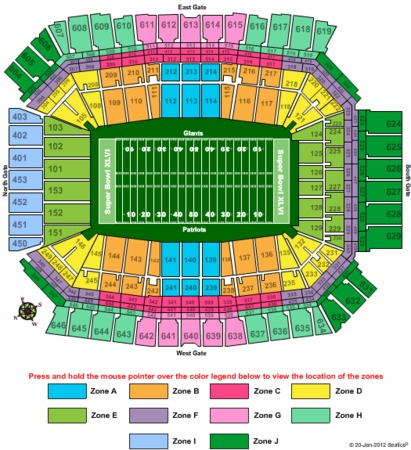 Lucas Oil Stadium Superbowl 2012 - Zone