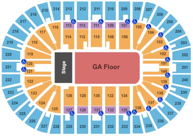 US Bank Arena End Stage GA Floor