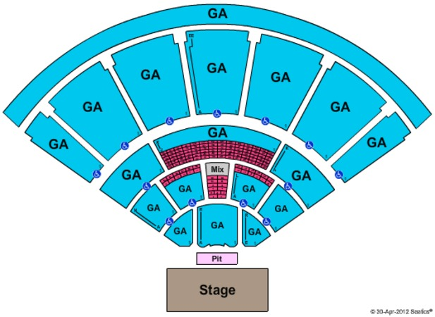MidFlorida Credit Union Amphitheatre At The Florida State Fairgrounds EndStage - GA