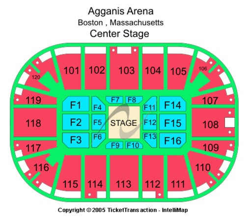 Agganis Arena Center Stage