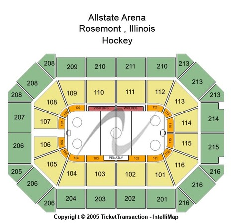 Allstate Arena Hockey