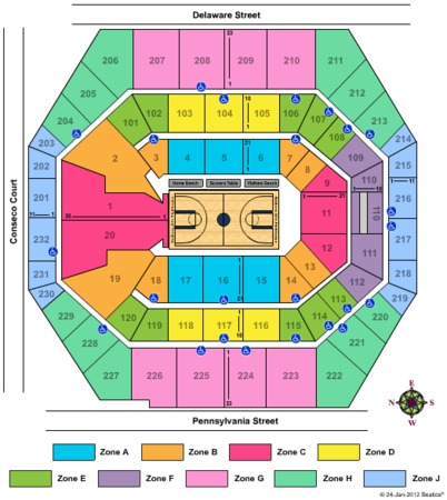 Bankers Life Fieldhouse Big10 2012 - Zone