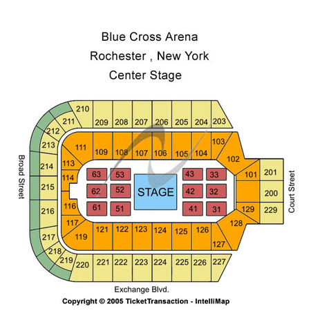 Blue Cross Arena Center Stage