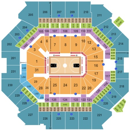 Barclays center seating chart pictures directions and for Barclays floor plan