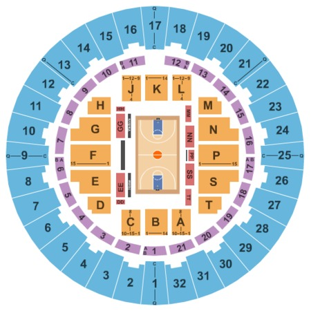 Neal S. Blaisdell Center - Arena Basketball