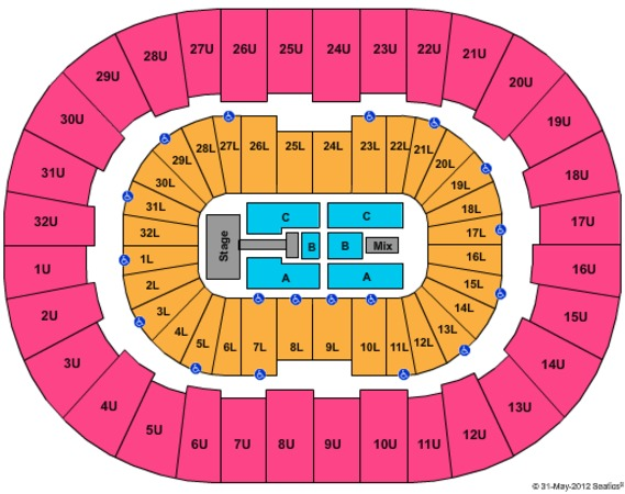 Legacy Arena at The BJCC Justin Bieber