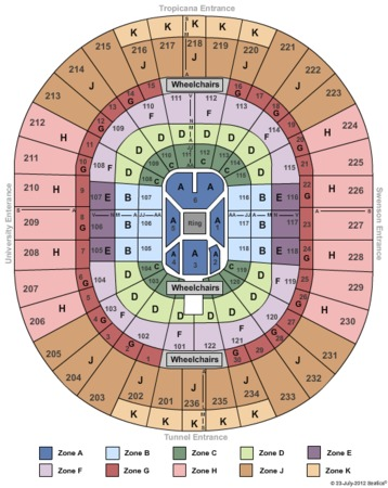 Thomas mack center tickets in las vegas nevada seating charts
