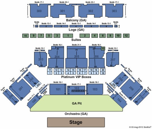 Toyota Oakdale Theatre General Admission