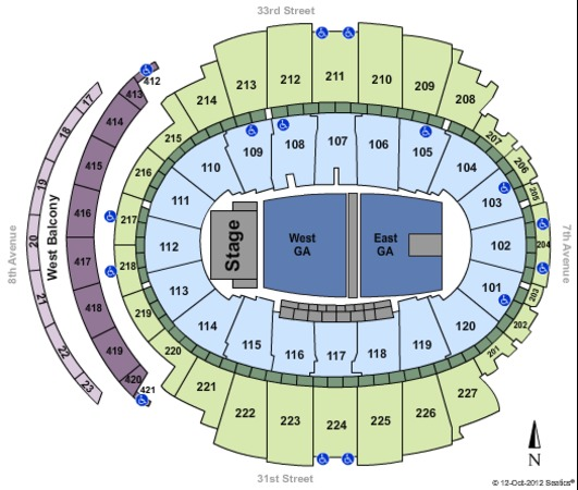 Madison Square Garden Full Floor GA - P2