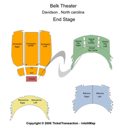 Belk Theatre At Blumenthal Performing Arts Center End Stage