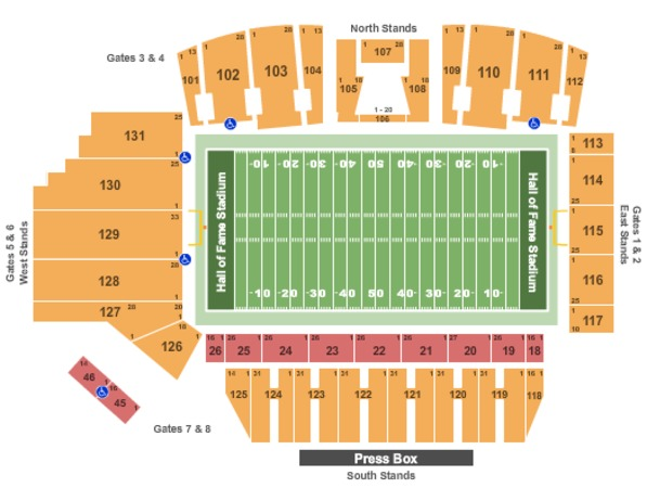 Tom Benson Hall Of Fame Stadium Football