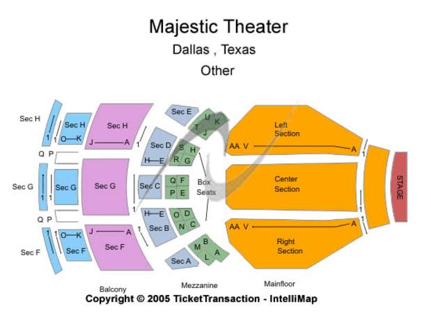 Majestic Theatre Tickets In Dallas Texas Majestic Theatre