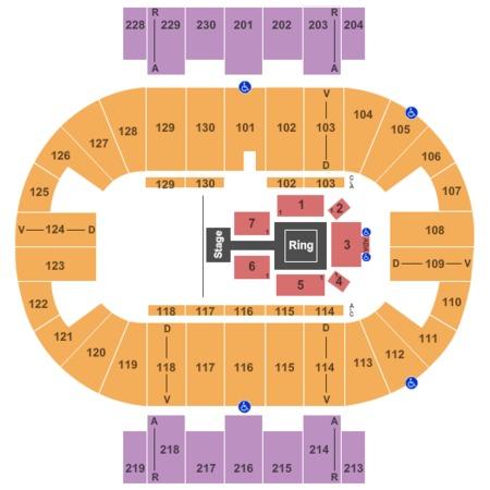 Pensacola Bay Center WWE